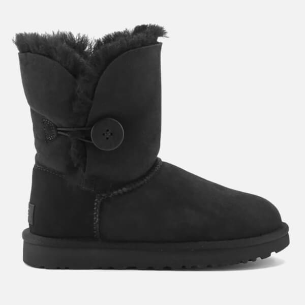 UGG Women's Bailey Button II Sheepskin Boots - Black: Image 1