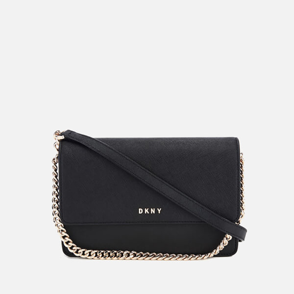 Dkny Woman Bryant Park Textured-leather Pouch Black Size DKNY pX7A1