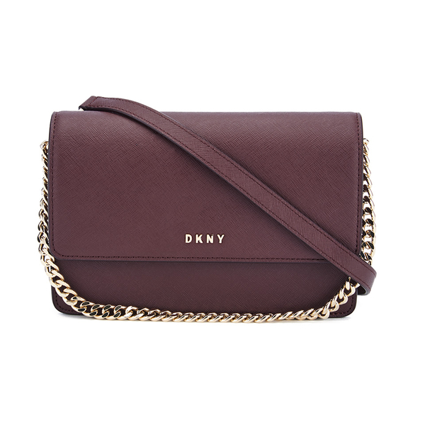 DKNY Women's Bryant Park Small Flap Crossbody Bag - Oxblood