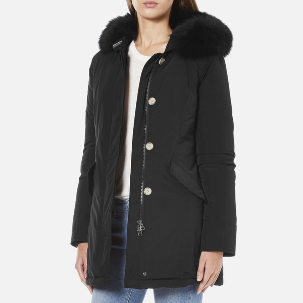 woolrich women 39 s luxury arctic parka fox black free uk delivery over 50. Black Bedroom Furniture Sets. Home Design Ideas