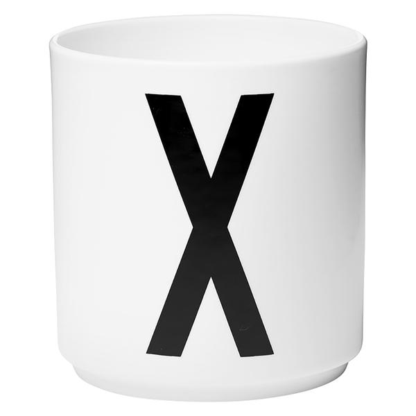 Design Letters Porcelain Cup - X