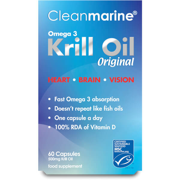 Cleanmarine Krill Oil - 60 Gel Capsules (500mg)