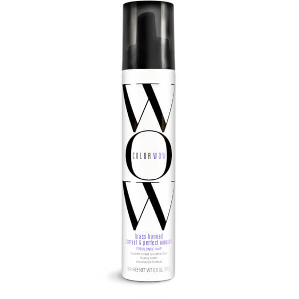 Colour WOW Brass Banned Correct and Perfect Mousse for Blonde Hair 200ml