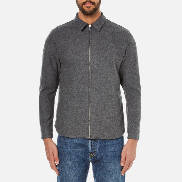 Edwin Men's Industry Zip Shirt - Grey Marl