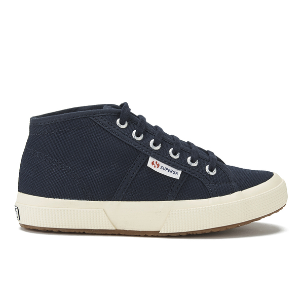 Superga Kids' 2754 Jcot Classic Hi Top Trainers - Navy