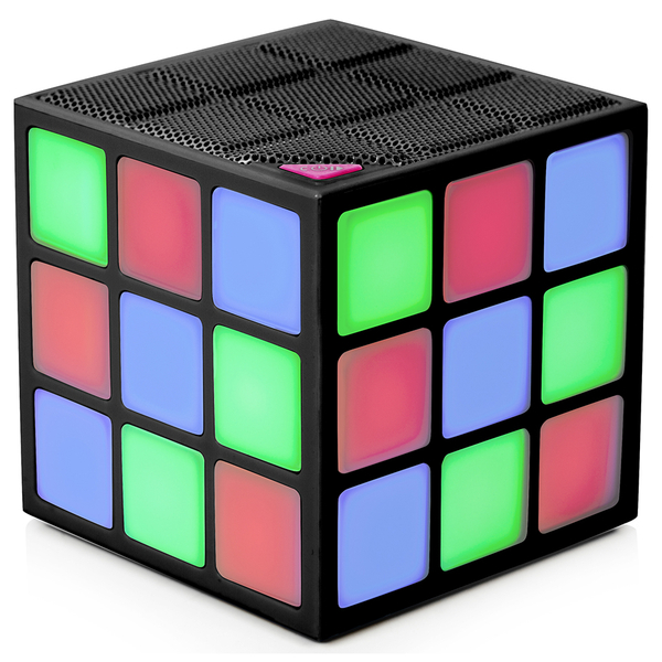Itek Bluetooth LED Cube Speaker - Multicoloured