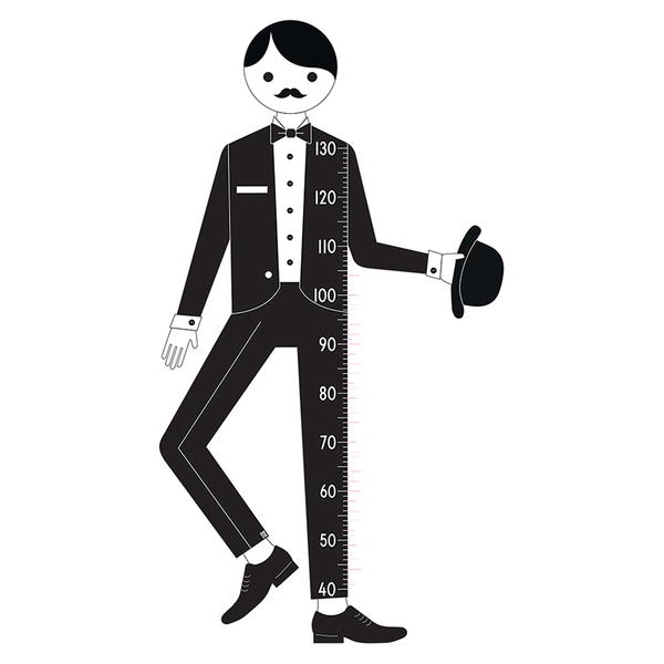 Design Letters Kids' Collection Measureman Wallsticker - Black