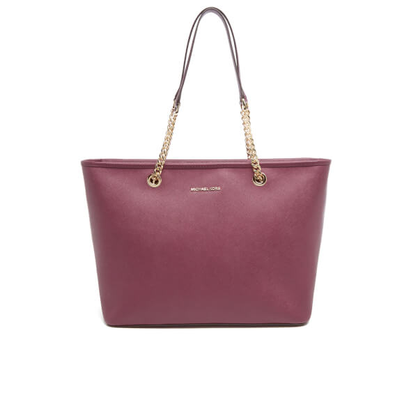 MICHAEL MICHAEL KORS Women's Jet Set Travel Chain TZ Tote Bag - Plum