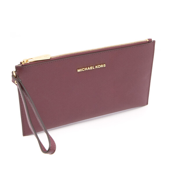 cfdb8e864d2d06 MICHAEL MICHAEL KORS Women's Jet Set Travel Large Zip Clutch Bag - Plum:  Image 2