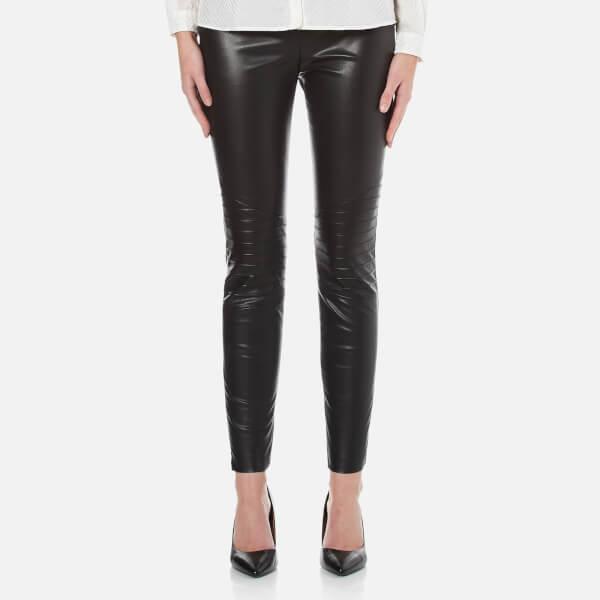 BOSS Orange Women's Saledy Faux Leather Leggings - Black