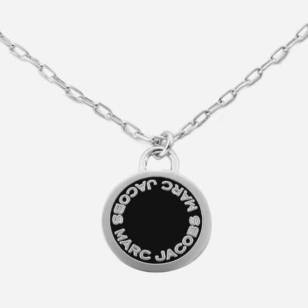 Marc jacobs womens enamel logo disc pendant necklace black marc jacobs womens enamel logo disc pendant necklace blackargento image 1 aloadofball Image collections
