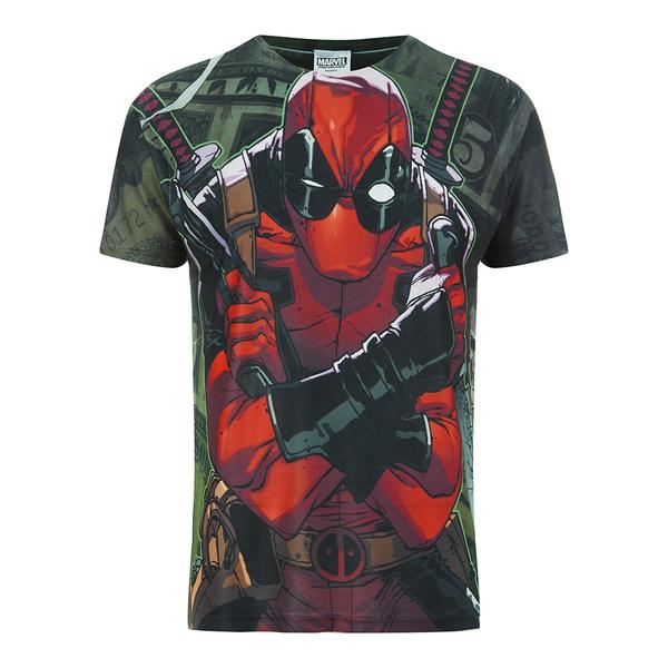 Marvel Men's Deadpool Dollar T-Shirt - White