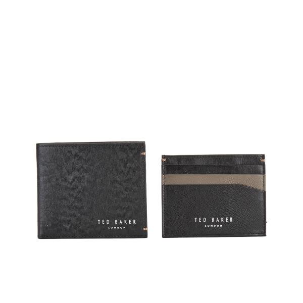 d07c2345f Ted Baker Men s Frank Leather Wallet and Card Holder Set - Black  Image 1