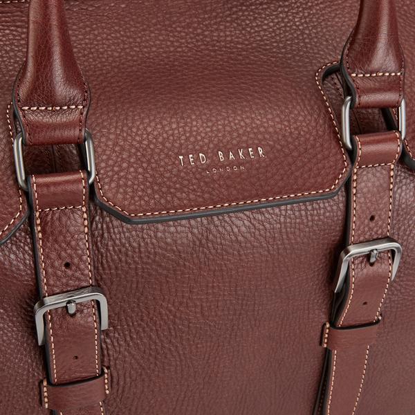 Ted Baker Men s Shalala Leather Holdall Bag - Tan  Image 4 54d13bb3b1c17
