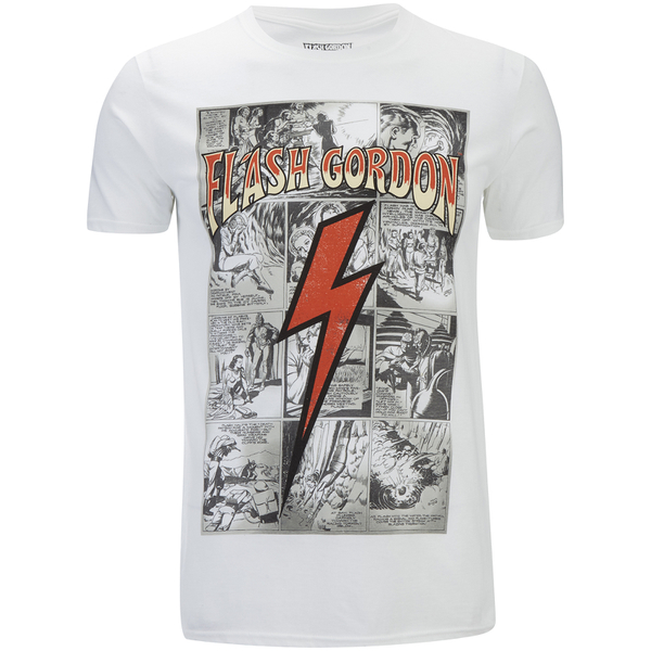 Flash Gordon Men's Comic Strip T-Shirt - White