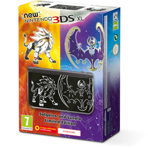 New Nintendo 3DS XL Solgaleo and Lunala Limited Edition Console Bundle