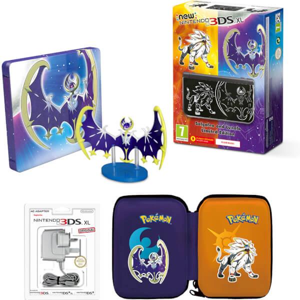 New Nintendo 3ds Xl Pok 233 Mon Sun And Moon Edition Pok 233 Mon Moon Steelbook Pack Nintendo