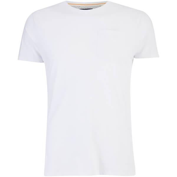 Threadbare Men's Jack Pocket Crew Neck T-Shirt - White