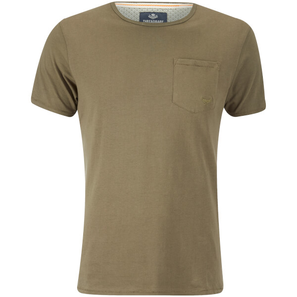 Threadbare Men's Jack Pocket Crew Neck T-Shirt - Khaki
