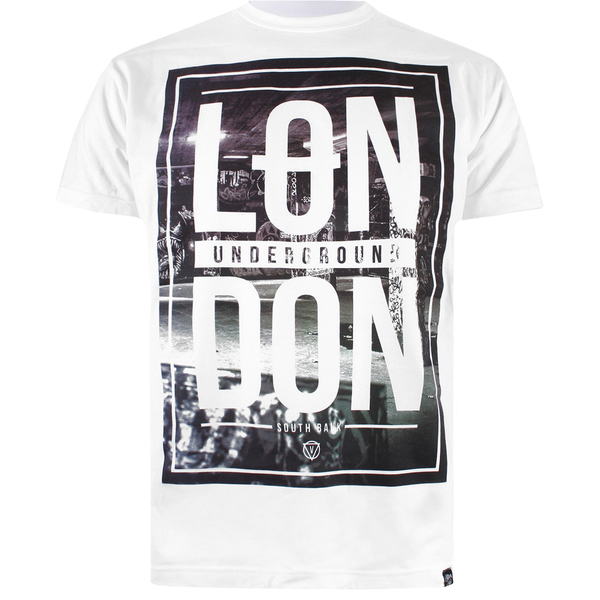 Cotton Soul Men's London Underground T-Shirt - White