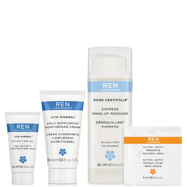 REN Complete Regime Kit for All Skin Types (Worth $18.24)