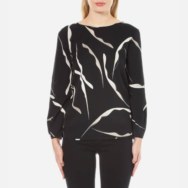 Diane von Furstenberg Women's Evvy Blouse - Gesture Black