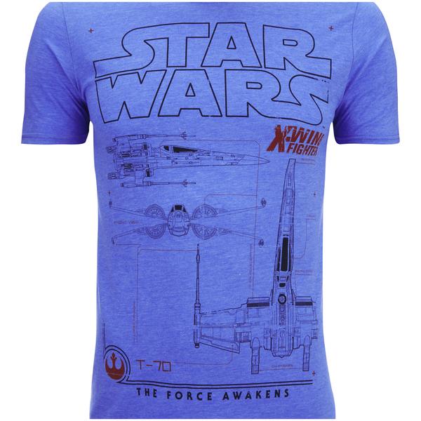 star wars men's x-wing schematic t-shirt - heather royal | my geek box, Wiring schematic