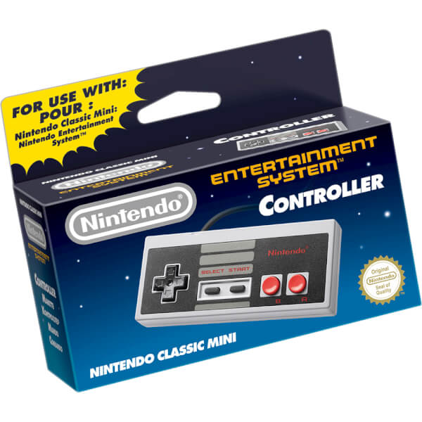 nintendo classic mini nes controller nintendo uk store. Black Bedroom Furniture Sets. Home Design Ideas