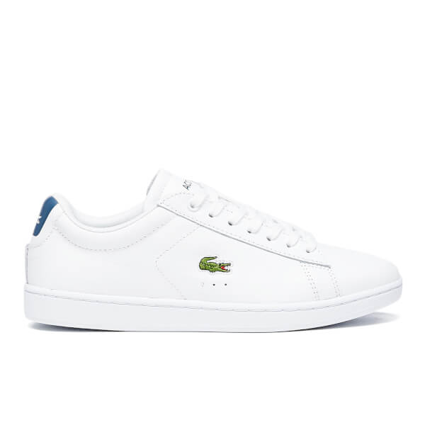 Womens Lacoste Carnaby Evo - Trainers - White/Blue DD15765