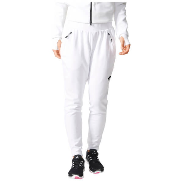adidas Women's ZNE Tapered Training Pants - White