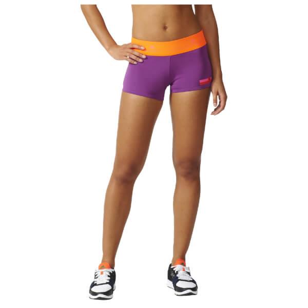 adidas Women's Stella Sport Workout Training Shorts - Purple