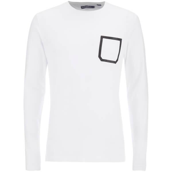 T-Shirt Brave Soul pour Homme Activist Tape Pocket -Blanc