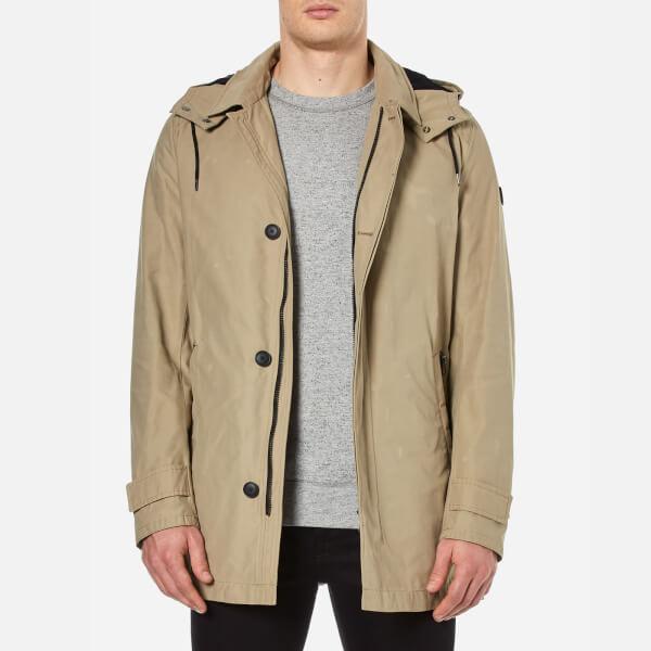BOSS Orange Men's Otorio Hooded Coat - Medium Beige