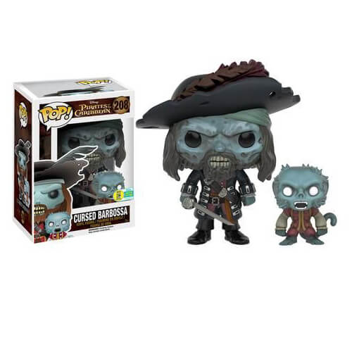 Pirates Of The Caribbean Cursed Barbossa Pop! Vinyl Figure SDCC 2016 Exclusive