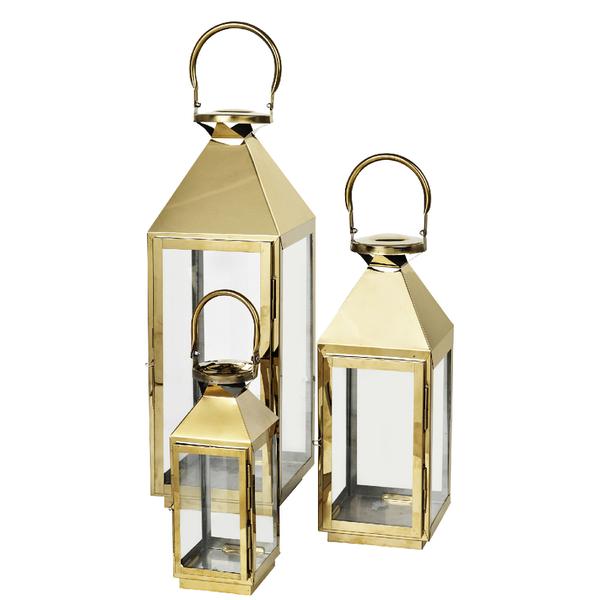 Broste Copenhagen Frit Outdoor and Indoor Lanterns (Set of 3)
