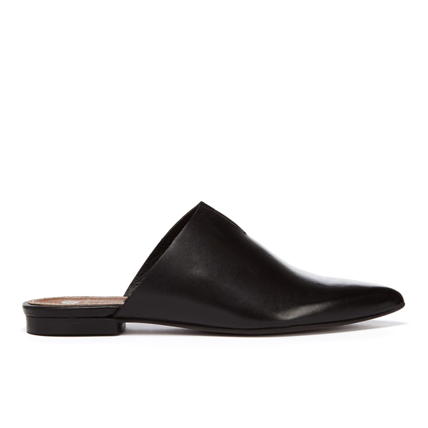 H Shoes by Hudson Women's Amelie Leather Pointed Flat Mules - Black