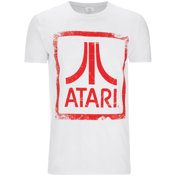 Atari Men's Square Logo T-Shirt - White