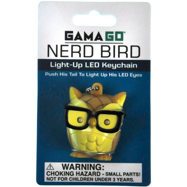 Nerd Bird Light-Up LED Keychain