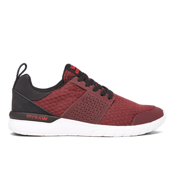Supra Men's Scissor Mesh Trainers - Burgundy