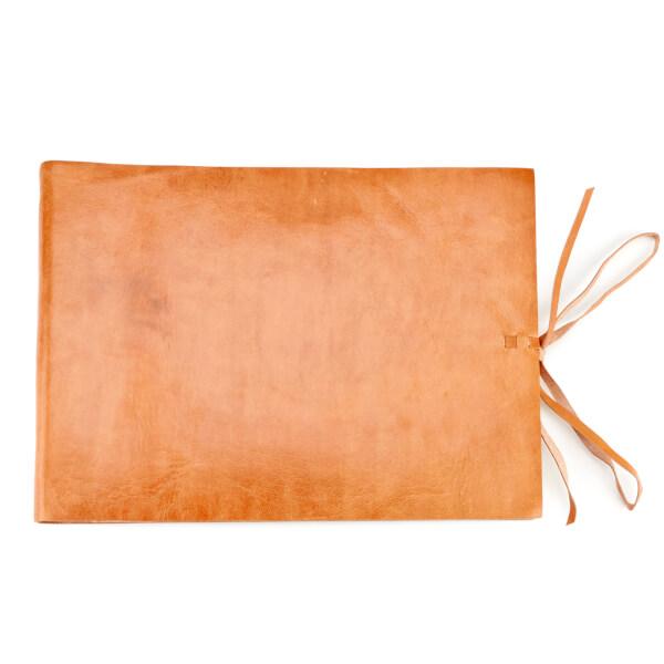 Nkuku Rustic Leather Photo Album - Tan