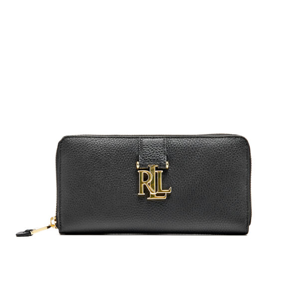 Lauren Ralph Lauren Women's Carrington Zip Wallet - Black
