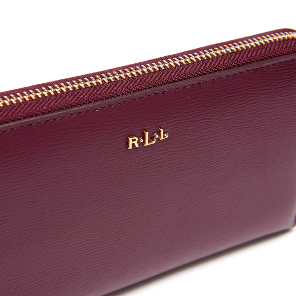 Lauren Ralph Lauren Women\u0027s Tate Zip Around Wallet - Claret: Image 3