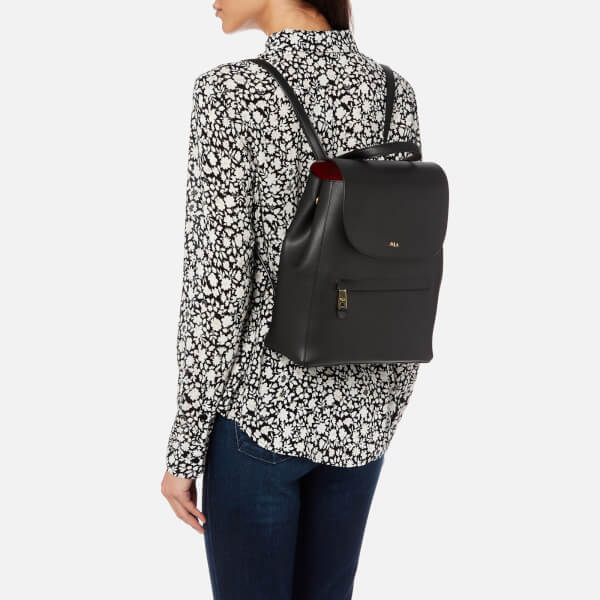 0e2ced5a85895 Lauren Ralph Lauren Women s Dryden Ellen Backpack - Black Crimson  Image 3