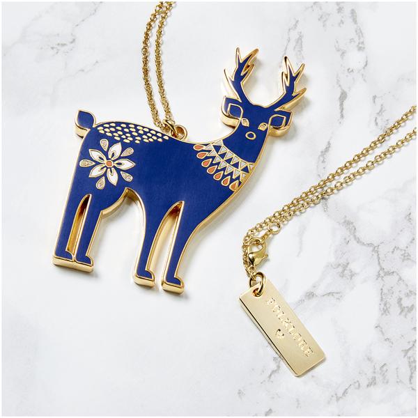 Folklore 'Oh Deer' Enamel Necklace