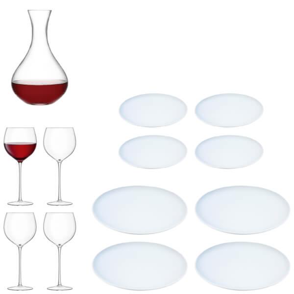 LSA Aura Handmade Wine Glass and Dine Starter Set