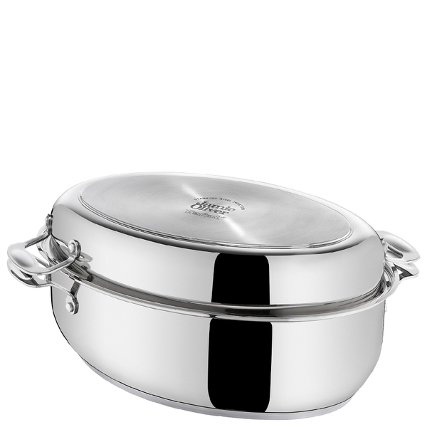 jamie oliver by tefal stainless steel dutch oven iwoot. Black Bedroom Furniture Sets. Home Design Ideas