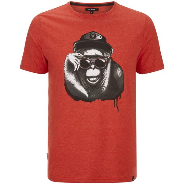Animal Men's Loko T-Shirt - Volcano Red Marl