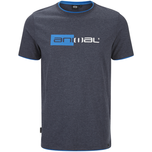 Animal Men's Loaner T-Shirt - Total Eclipse Navy Marl