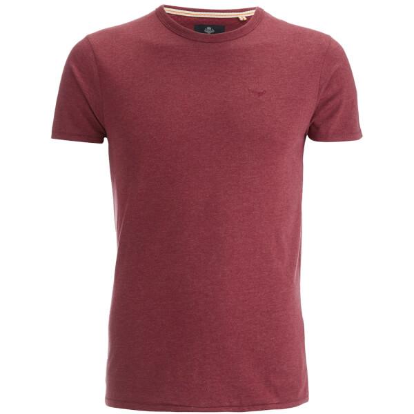 T-Shirt Homme Threadbare William - Grenat Chiné