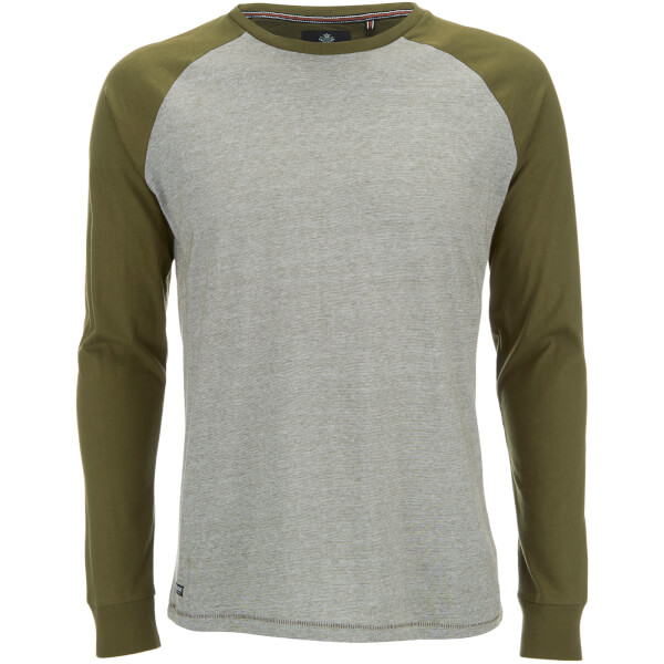 Threadbare Men's Coleman Raglan Long Sleeve Top - Khaki